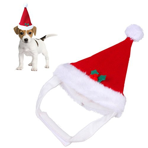 red warm christmas pet santa hut pl sch f r haustiere welpen kitten hunde katzen soft urlaub. Black Bedroom Furniture Sets. Home Design Ideas