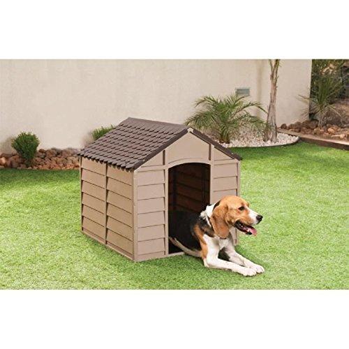 hundehuette hundehaus aus kunststoff mokka braun marke starplast art 10 701 fuer kleine. Black Bedroom Furniture Sets. Home Design Ideas