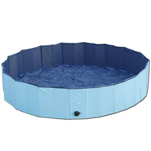 GRÖSSE M Hundepool DOGGY POOL Planschbecken Schwimmingpool Wasserbecken 120cm Spielzeug