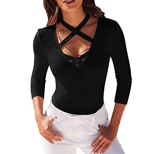 milktea damen blusen oberteile t shirt damen mode casual v. Black Bedroom Furniture Sets. Home Design Ideas